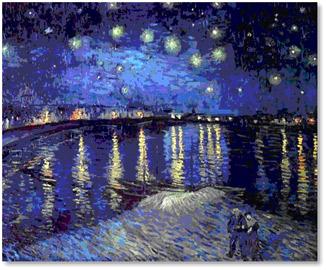 Винсент ван гог звездная ночь над